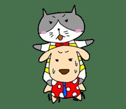 Cat and Dog sticker #156366