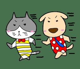 Cat and Dog sticker #156367