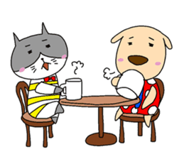 Cat and Dog sticker #156369