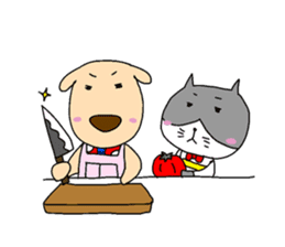 Cat and Dog sticker #156372