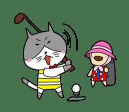 Cat and Dog sticker #156376