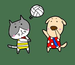 Cat and Dog sticker #156377