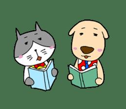 Cat and Dog sticker #156382