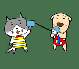 Cat and Dog sticker #156386