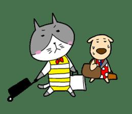 Cat and Dog sticker #156391