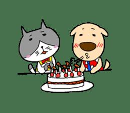 Cat and Dog sticker #156392