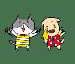 Cat and Dog sticker #156393