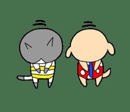 Cat and Dog sticker #156394