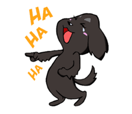 Every day of pet dog jazz sticker #157339