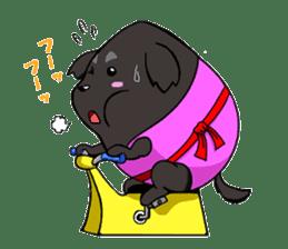 Every day of pet dog jazz sticker #157347