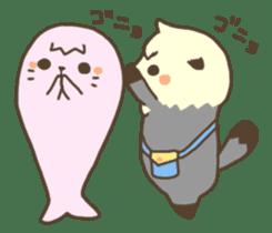 Rattan of a sea otter 2 sticker #157709
