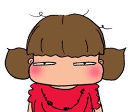 """cute girl """"Mutchy"""" sticker #158123"""