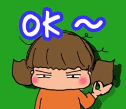 """cute girl """"Mutchy"""" sticker #158142"""