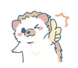 Hedgehog&Squirrel sticker #158787