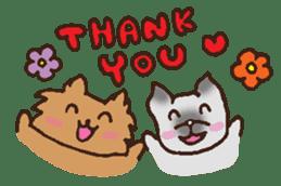 Betty & Kinako's happy life sticker #158939