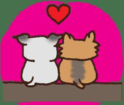 Betty & Kinako's happy life sticker #158959