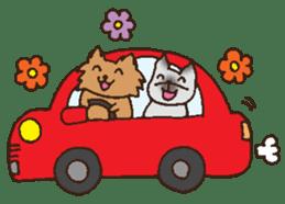 Betty & Kinako's happy life sticker #158973
