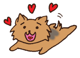 Betty & Kinako's happy life sticker #158975