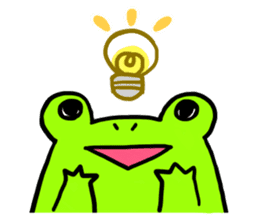 Ru of a frog sticker #159300