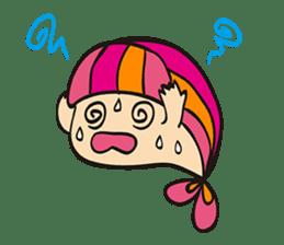 "Child fish ""Puri"" sticker #160231"