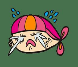 "Child fish ""Puri"" sticker #160234"