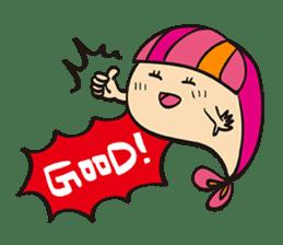 "Child fish ""Puri"" sticker #160258"