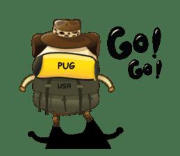 Jurassic Pug sticker #160620