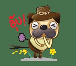 Jurassic Pug sticker #160632