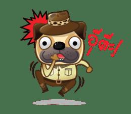 Jurassic Pug sticker #160637