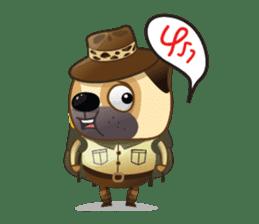 Jurassic Pug sticker #160649