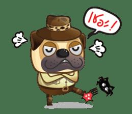 Jurassic Pug sticker #160652