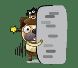 Jurassic Pug sticker #160653
