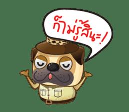 Jurassic Pug sticker #160654
