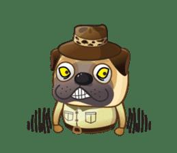 Jurassic Pug sticker #160656