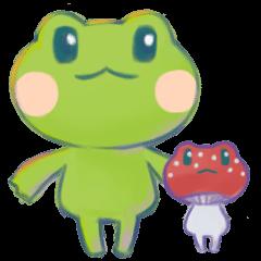 Tree frog & Amanitas