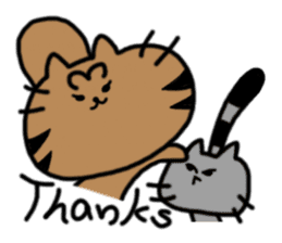 cat + cat sticker #161276