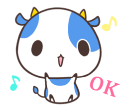 MILK The Blue Cow sticker #161339