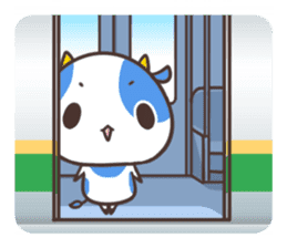 MILK The Blue Cow sticker #161355