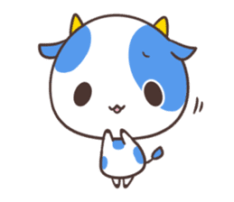 MILK The Blue Cow sticker #161360