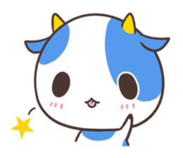 MILK The Blue Cow sticker #161365
