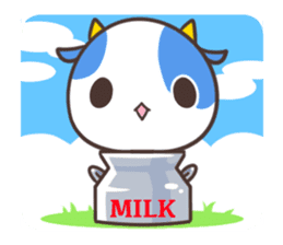MILK The Blue Cow sticker #161370