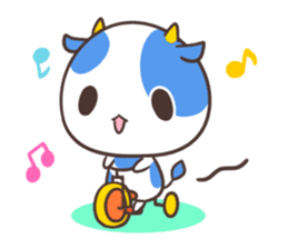 MILK The Blue Cow sticker #161376