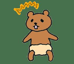 Grizzly-kun sticker #162103