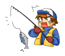 Let's fishing! sticker #162165