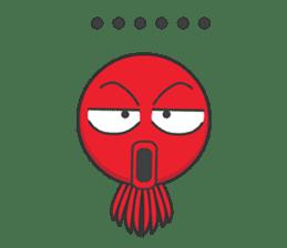 Okto-kun - The Shy Octopus Boy sticker #163060