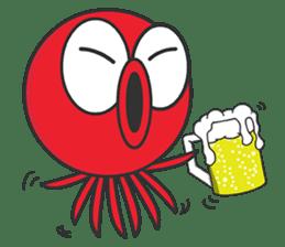 Okto-kun - The Shy Octopus Boy sticker #163063