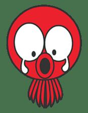 Okto-kun - The Shy Octopus Boy sticker #163078