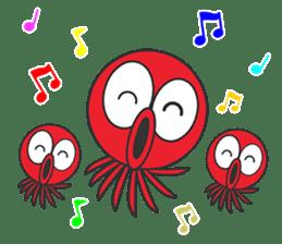 Okto-kun - The Shy Octopus Boy sticker #163089