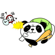 Wake-up Panda sticker #163783