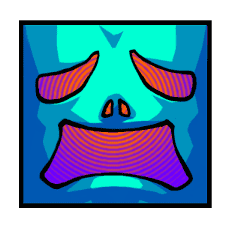 The face sticker #163821